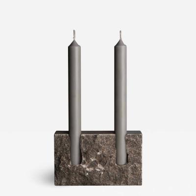 Sanna V lker Grey Sant Vicen Sculpted Candleholder by Sanna V lker