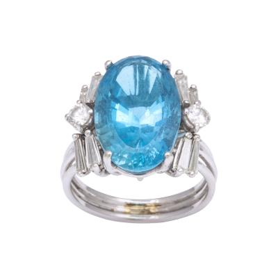 Santa Maria Aquamarine and Diamond White Gold Ring