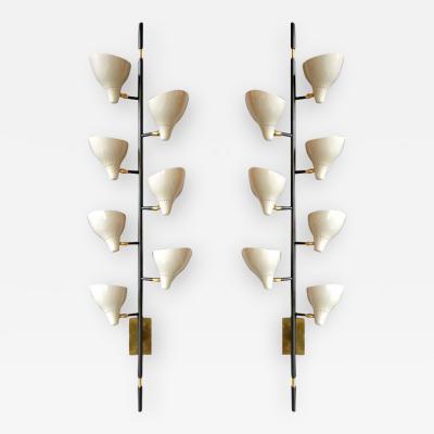 Sarfatti Style Large Multi Shade Sconces Italy