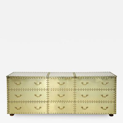 Sarreid Ltd Sarreid Brass Clad Dresser
