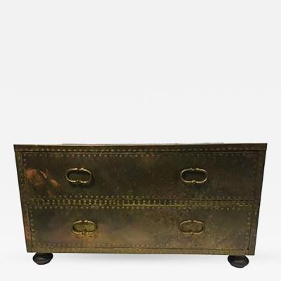 Sarreid Ltd Stunning Sarreid Brass Studded Chest of Drawers or Trunk