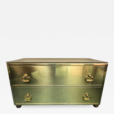 Sarried Hollywoood Regency brass chest