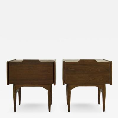 Scandinavian Drop Front End Tables in Teak 1960s
