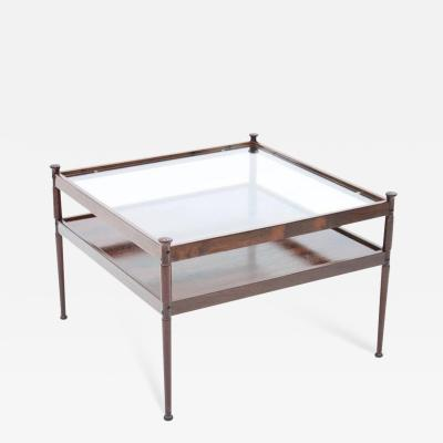 Scandinavian Glass and Wood Coffee Table 1960s