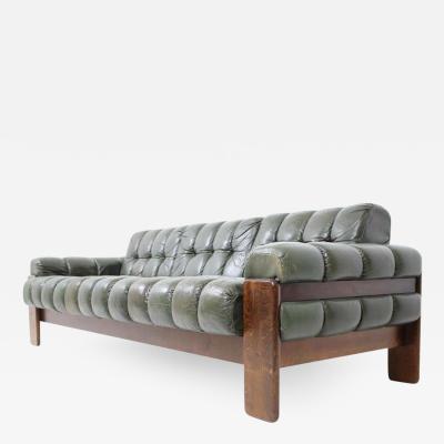 Scandinavian Leather Sofa By Kaluste Yhtym Finland 1970s