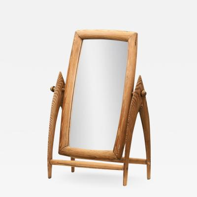 Scandinavian Mid Century Pine Table Mirror Scandinavia 1940s