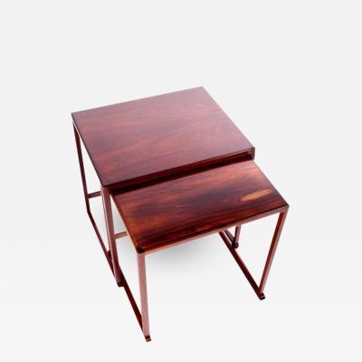 Scandinavian Modern Danish Nesting Tables in Rosewood