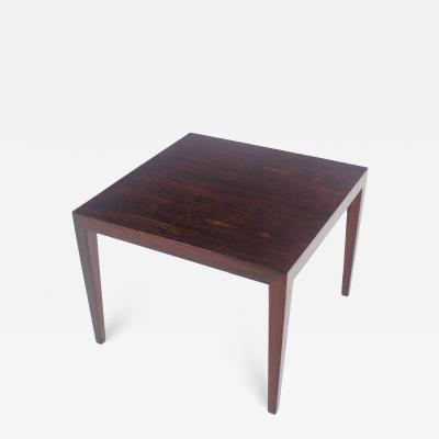 Scandinavian Modern Rosewood Side Table Designed by Severin Hansen
