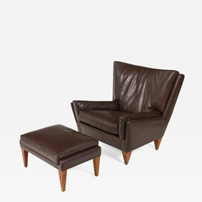 Scandinavian Modern Style Lounge Chair and Ottoman by Lost City Arts