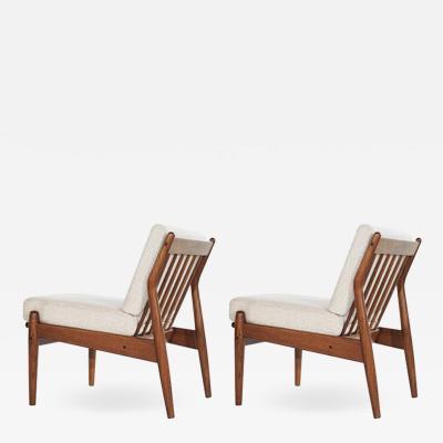 Scandinavian Modern Teak Slipper Chairs 1950s