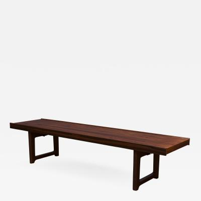 Scandinavian Rosewood Bench by Bruskbo
