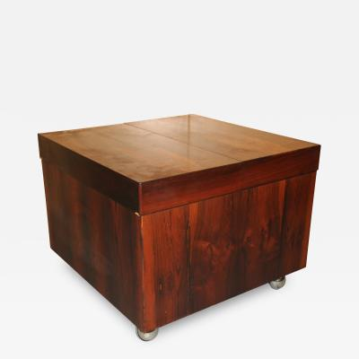 Scandinavian Rosewood Cube Bar Coffee Table