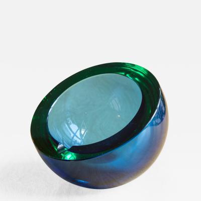 Scandinavian Round Glass Ashtray
