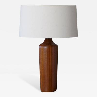 Scandinavian Solid Teak Table Lamp