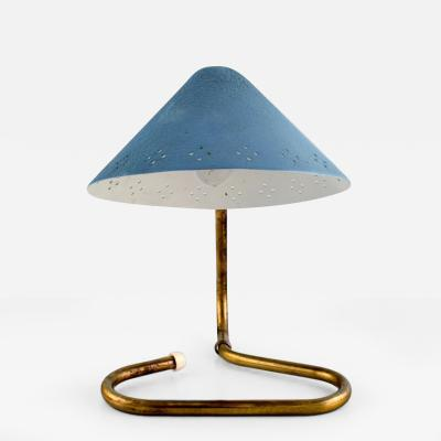 Scandinavian design Adjustable desk lamp Foot in patinated brass