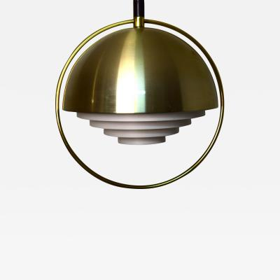 Scandinavian designer brass ceiling lamp