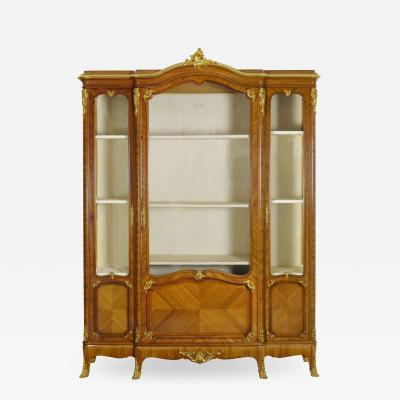 Schmit Cie French Louis XV Style Antique Bookcase Cabinet Bookshelf by Schmit Cie