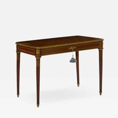 Schmit Cie French Louis XVI Style Antique Writing Table Desk Bureau Plat Schmit et Cie