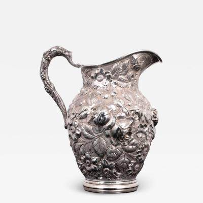 Schofield Sterling Silver Floral Hand Chased Repousse