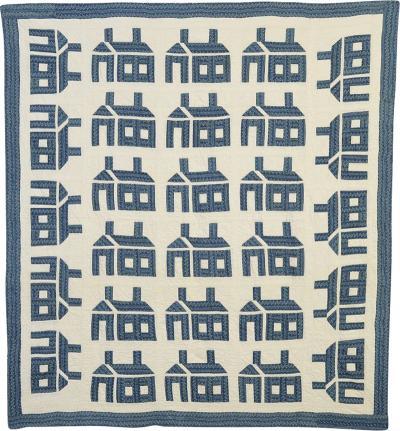 Schoolhouse Quilt Circa 1900