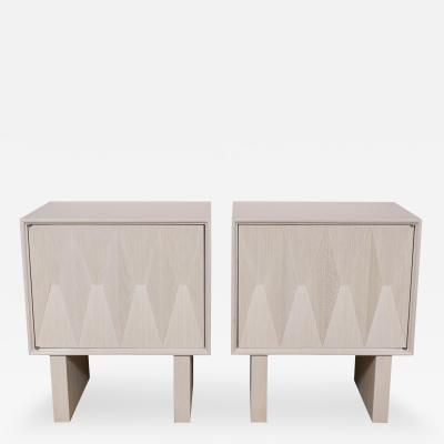 Sculpted Front Nightstand with Interior Shelf and Drawer Made to Order