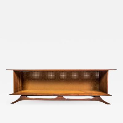 Sculpted Studio Cabinet or Credenza in Walnut