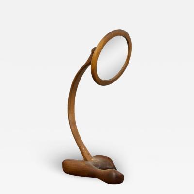 Sculpted Walnut Craft Mirror