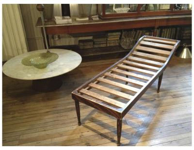 Sculptural American painted daybed