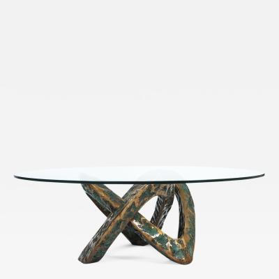 Sculptural Brutalist Mobius Bronze Table Circa 1955
