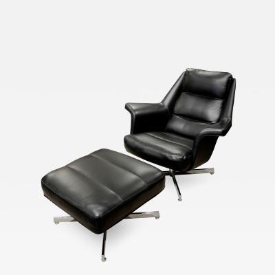 Sculptural Chair Ottoman from Denmark 1965