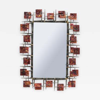 Sculptural Contemporary Brutalist Mirror