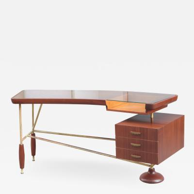 Sculptural Italian Modernist Desk