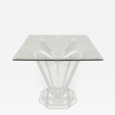 Sculptural Lucite Side Table With Stepped Base 1970s