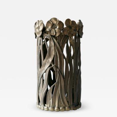 Sculptural Mid Century Modern Massive Brass Umbrella Stand 1960s Germany