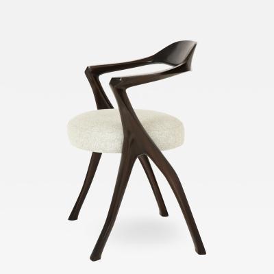 Sculptural Modernist Armchair by Newman Krasnogorov