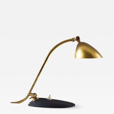 Sculptural Scandinavian Midcentury Desk Lamp in Brass