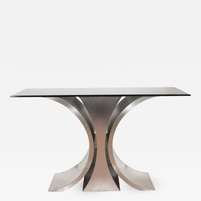 Sculptural Steel Console Table