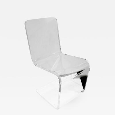 Sculptural Thick Molded Lucite Chair 1970s