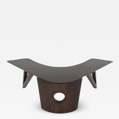 Sculptural Walnut Boomerang Coffee Table 1950s