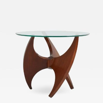 Sculptural Walnut Side Table 1950s