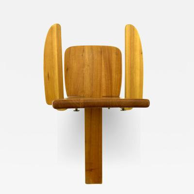 Sculptural Wood Chair Side Chair Finland 1970s