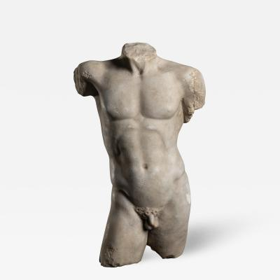 Sculpture Marble Torso Classical Greek of Doryphoros After