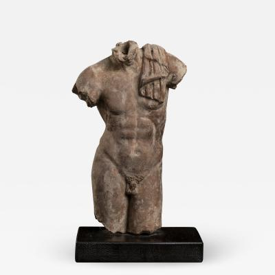 Sculpture Torso of a Young Man Terracotta Roman Academy 19th Century