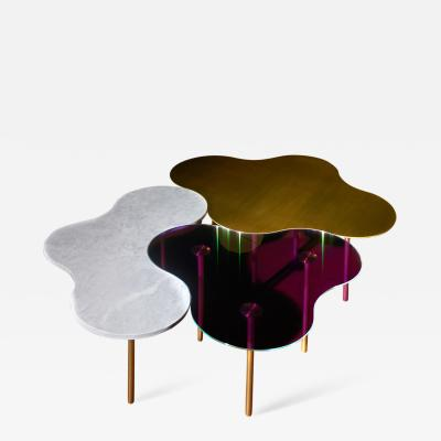 Sebastian Scherer Brass Coffee Table Ensemble of 3 Sebastian Scherer