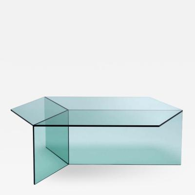 Sebastian Scherer Clear Glass Isom Oblong Coffee Table Sebastian Scherer