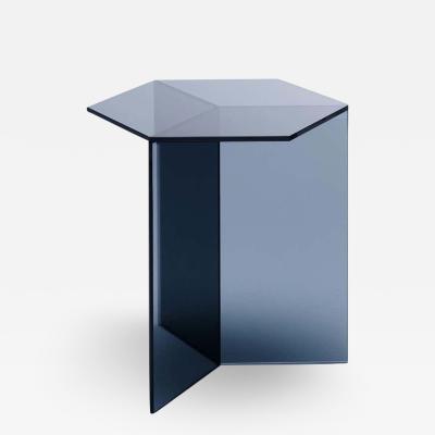 Sebastian Scherer Clear Glass Isom Tall Coffee Table Sebastian Scherer