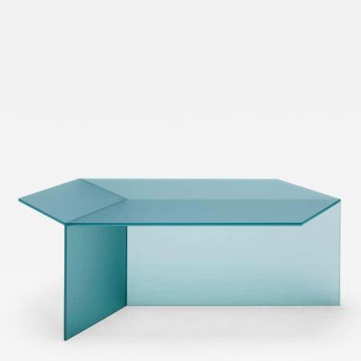 Sebastian Scherer Satin Glass Isom Oblong Coffee Table Sebastian Scherer