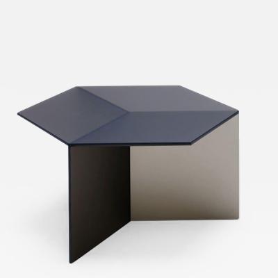 Sebastian Scherer Satin Glass Isom Square Coffee Table Sebastian Scherer