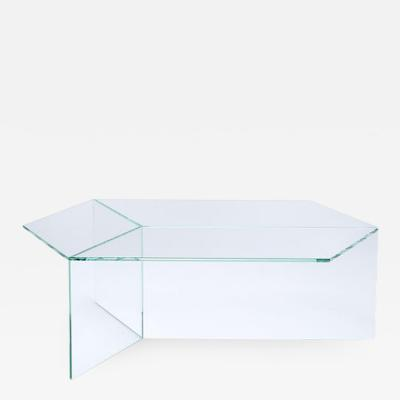Sebastian Scherer Transparent Glass Isom Oblong Coffee Table Sebastian Scherer