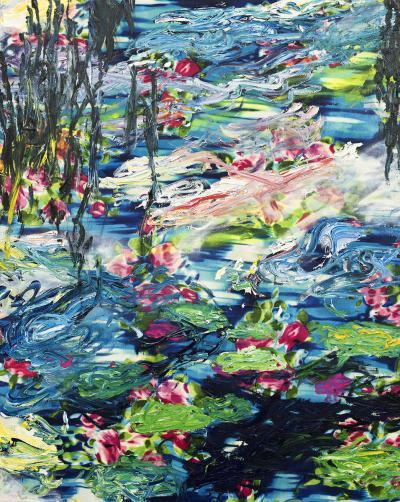 Sebastian Vallejo Water Lilies after Monet